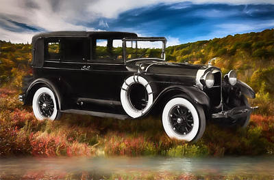 Digital Art - 1927 Lincoln Towncar by John Haldane