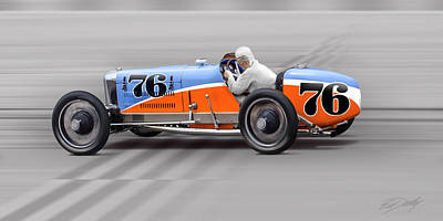 1927 Miller 91 No. 76 Art Print by Ed Dooley