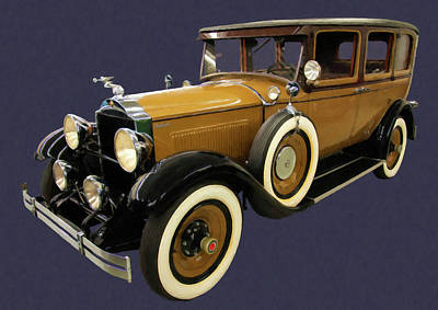 Painting - 1927 Packard Digital Oil by Chris Flees