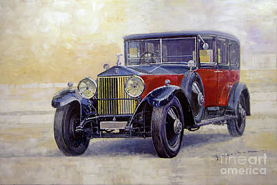 Painting - 1927 Rolls-royce 40-50 Phantom 1  by Yuriy Shevchuk