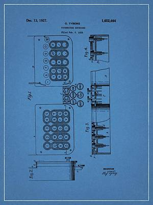 1927 Typewriter Patent Art Print by Dan Sproul