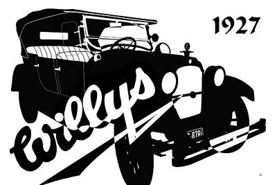 Digital Art - 1927 Willys by Betty Northcutt