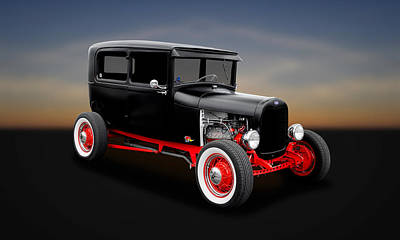 Photograph - 1928 Ford 2-door Sedan  -  28fd0001 by Frank J Benz