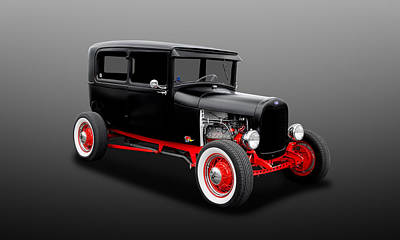 Photograph - 1928 Ford 2-door Sedan  -  28fd0002 by Frank J Benz