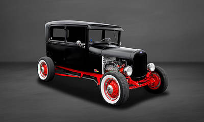 Photograph - 1928 Ford 2-door Sedan  -  28fd0003 by Frank J Benz