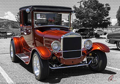 Photograph - 1928 Ford Coupe Hot Rod by Chris Thomas
