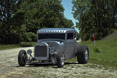 Photograph - 1928 Ford Coupe Hot Rod by TeeMack