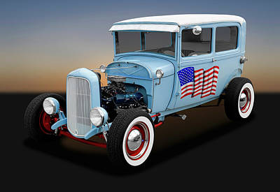 Photograph - 1928 Ford Model A Tudor Sedan  -  1928ford2doorsedan170289 by Frank J Benz