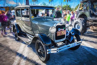 1928 Ford Model A Tudor Sedan Painted  Art Print