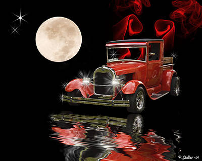 Floods Digital Art - 1928 Ford  by Patricia Stalter