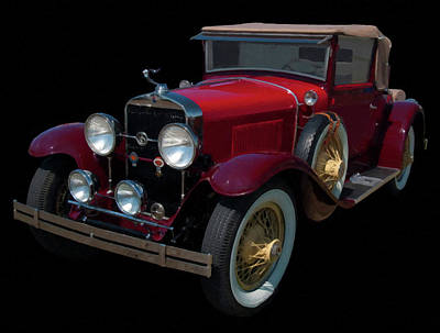 Painting - 1928 Lasalle Digital Oil by Chris Flees