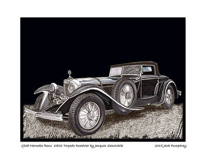 Mercedes Benz 680 S 1928  Art Print by Jack Pumphrey