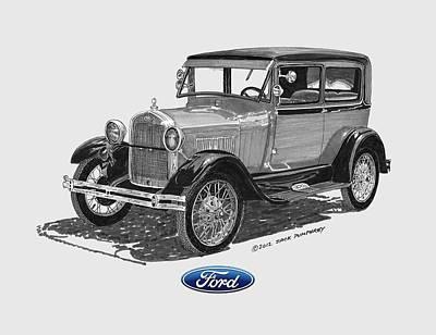 Model A Ford 2 Door Sedan Art Print