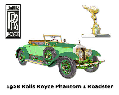 Painting - 1928 Rolls Royce Phantom 1 by Jack Pumphrey