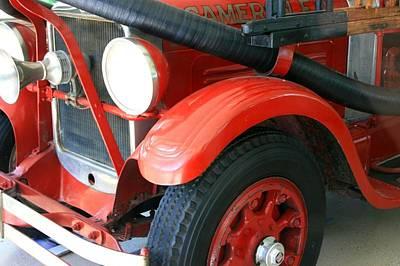 Photograph - 1928 Studebaker Fire Engine 3 by David Dunham