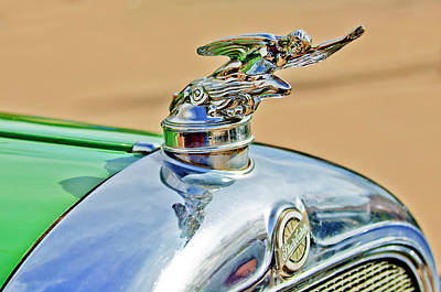1928 Studebaker Hood Ornament Art Print by Jill Reger