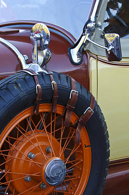 Photograph - 1928 Studebaker President Roadster Spare Tire by Jill Reger