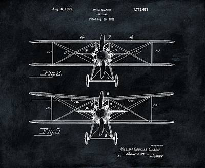 1929 Airplane Patent Art Print by Dan Sproul
