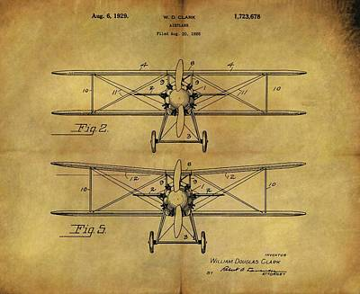 1929 Airplane Patent Vintage Art Print by Dan Sproul