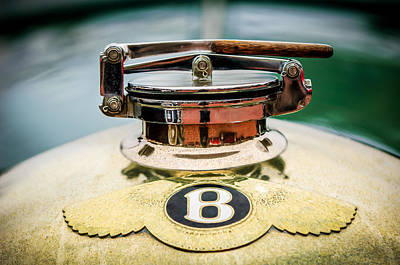 Photograph - 1929 Bentley 4.5-litre Open Tourer Hood Ornament by Jill Reger