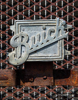 Photograph - 1929 Buick Nameplate by Kevin McCarthy