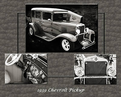 Photograph - 1929 Chevrolet Vintage Classic Car Automobile Sepia 3557.01 by M K  Miller