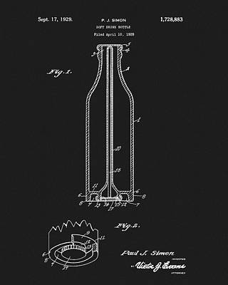 Mixed Media - 1929 Coca Cola Bottle Patent by Dan Sproul