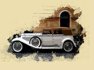 Dupont Painting - 1929 Dupont Model G Speedster I by Elaine Plesser