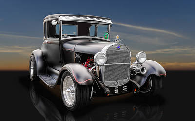 Street Rod Photograph - 1929 Ford Leatherback 5 Window - 1 by Frank J Benz