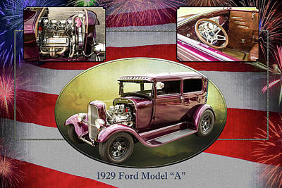 Photograph - 1929 Ford Model A 5511.01 by M K  Miller