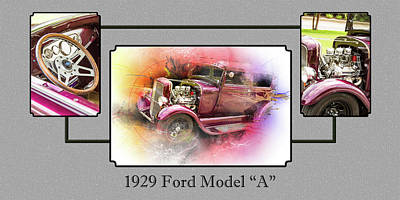 Photograph - 1929 Ford Model A 5511.02 by M K  Miller