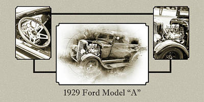 Photograph - 1929 Ford Model A 5511.51 by M K Miller