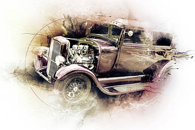 Photograph - 1929 Ford Model A 5511.54 by M K  Miller