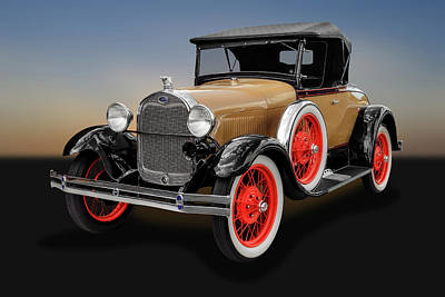 Photograph - 1929 Ford Model A Convertible  -  1929fordmdlaconvertible153067 by Frank J Benz