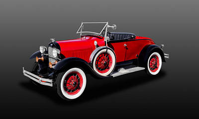 Photograph - 1929 Ford Model A Convertible  -  29mdacv725 by Frank J Benz