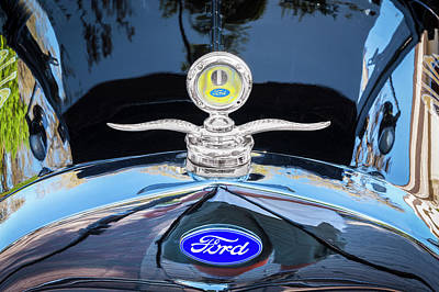 1929 Ford Model A Hood Ornament  Art Print by Rich Franco