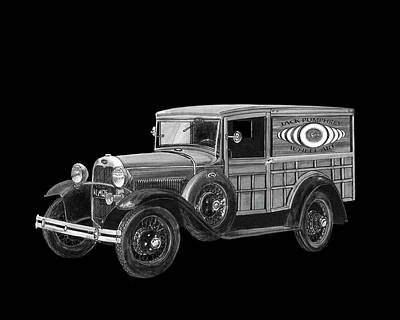 Painting - 1929 Ford Model A Panel Delivery by Jack Pumphrey