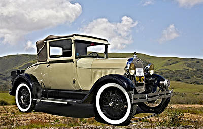 Model A Digital Art - 1929 Ford Model A by Patricia Stalter