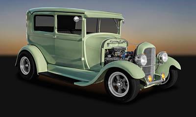 Photograph - 1929 Ford Model A Tudor Sedan  -  1929fd2drsed9769 by Frank J Benz