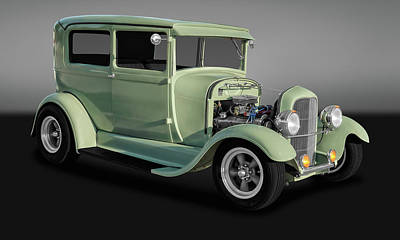 1929 Ford Model A Tudor Sedan  -  29fdsedgry9769 Art Print by Frank J Benz