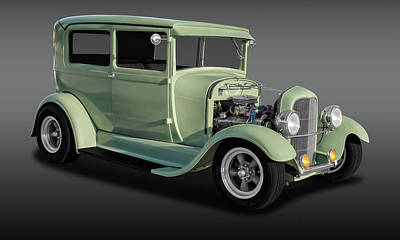 Ford Tudor Photograph - 1929 Ford Model A Tudor Sedan  -  29fordsedfa9769 by Frank J Benz