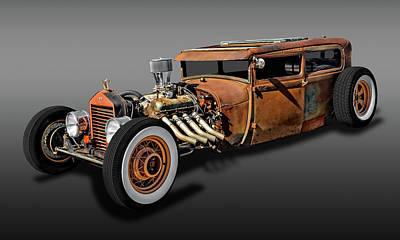 Ford Tudor Photograph - 1929 Ford Model A Tudor Sedan Rat Rod  -  29fordratrodfa9483 by Frank J Benz