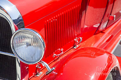 Photograph - 1929 Ford Phaeton Classic Car Headlight Antique In Color 3508.02 by M K Miller