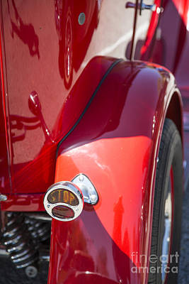 Photograph - 1929 Ford Phaeton Classic Car Tail Light Antique In Color 3510.0 by M K Miller