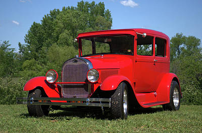 Photograph - 1929 Ford Sedan Hot Rod by TeeMack