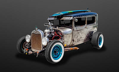 Photograph - 1929 Ford Tudor Sedan Rat Rod   -   29fdtudor87 by Frank J Benz