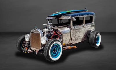 Photograph - 1929 Ford Tudor Sedan Rat Rod  -  29fdtudorrr97 by Frank J Benz