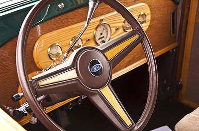 Photograph - 1929 Ford Woody Interior by Glenn Gordon