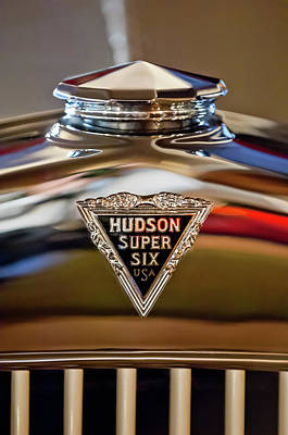 Automobile Hood Photograph - 1929 Hudson Cabriolet Hood Ornament by Jill Reger