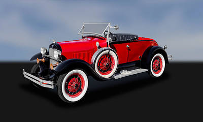 Photograph - 1929 Model A Ford Convertible   -   29fdmacv850 by Frank J Benz